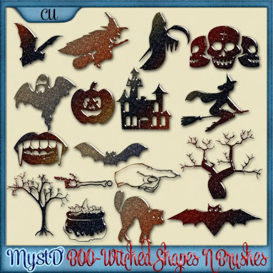 MystD - BOO-Witched Shapes N Brushes Bundle - Click Image to Close