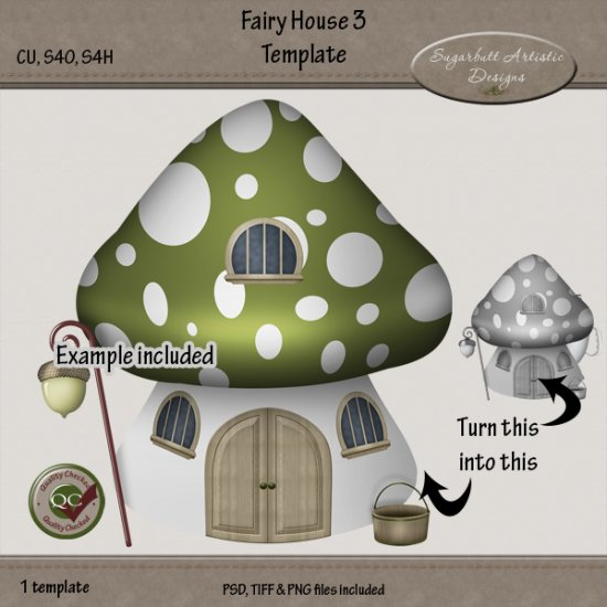 Fairy House 3 Template Larger Image
