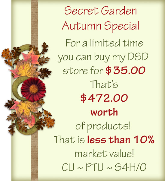 Secret Garden Buy My Store Special - Click Image to Close